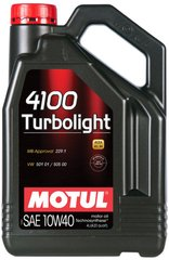 Motul 4100 Turbolight 10W-40, 4л.