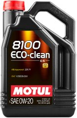 Motul 8100 Eco-clean 0W-20, 5л.