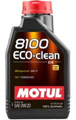 Motul 8100 Eco-clean 0W-20, 1л.
