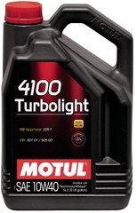 Motul 4100 Turbolight 10W-40, 5л.