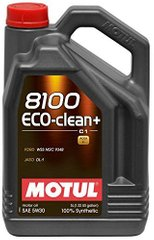 Motul 8100 Eco-clean+ 5W-30, 5л.